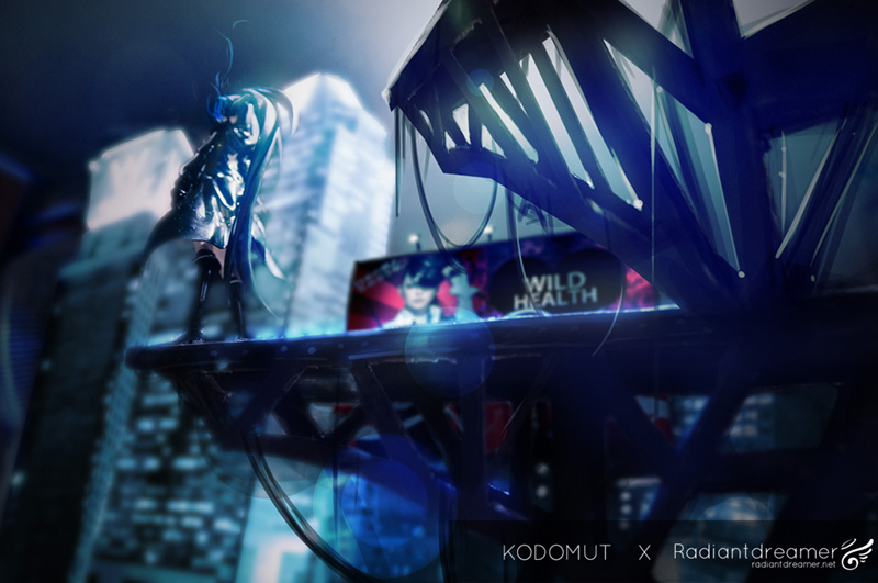 Black Rock Shooter Figma by Goodsmile Company, photo originally by Kodomut