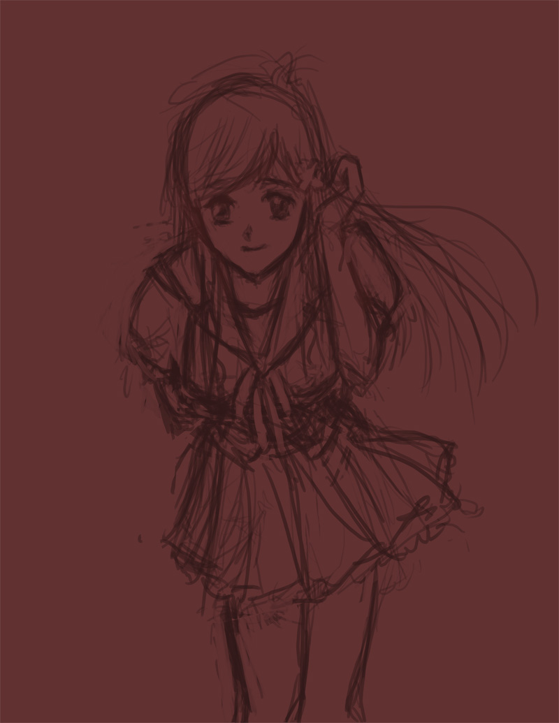 sketch Mirai Fan Art