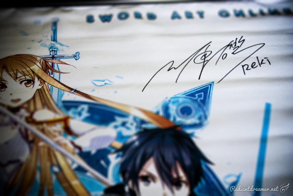Sakura Con 2013 Reki Kawahara Autograph