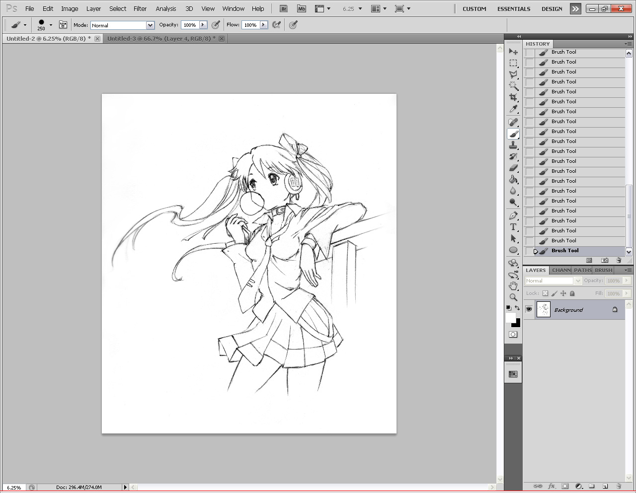 The results of cleanup lineart