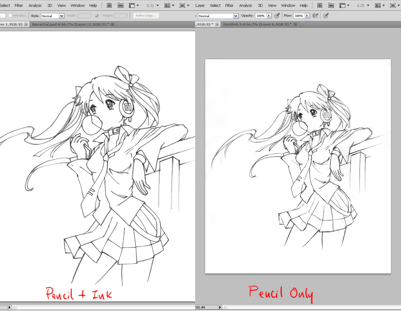 11 comparison How to Draw Better Line Art