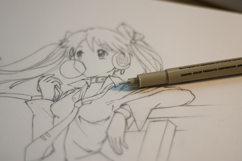 For Inking You Need A Very Fine Pen Me I Use The Sakura Micron 005 These Pens Are Best Can Get Outlining Line Art