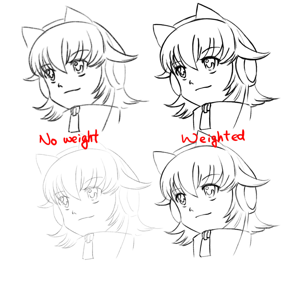 weightcomparison How to Draw Better Line Art