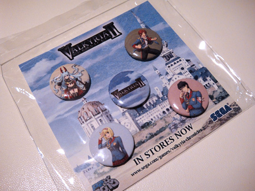 Valkyria Chronicles 2 pins