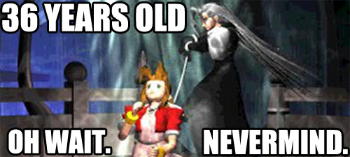 Aerith 36 years old