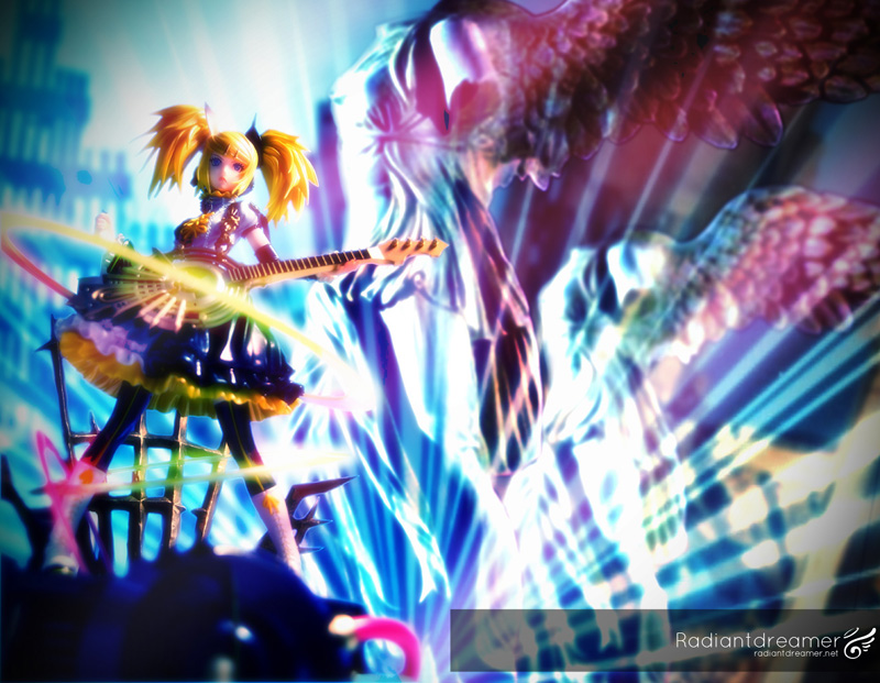 The completed photoshop image of Rin Nuclear Fusion