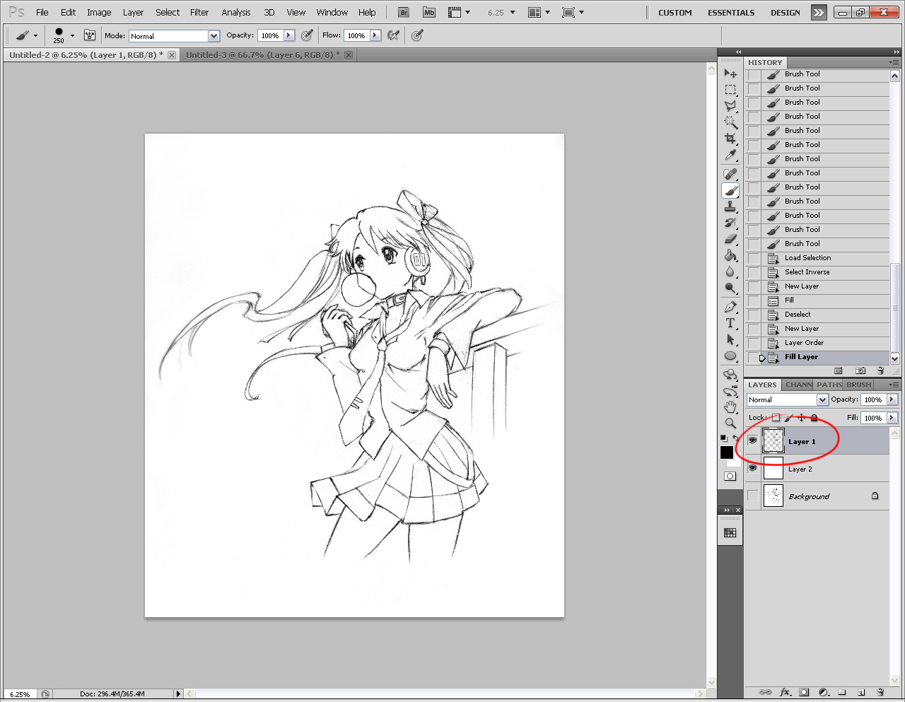 Layered Line Art